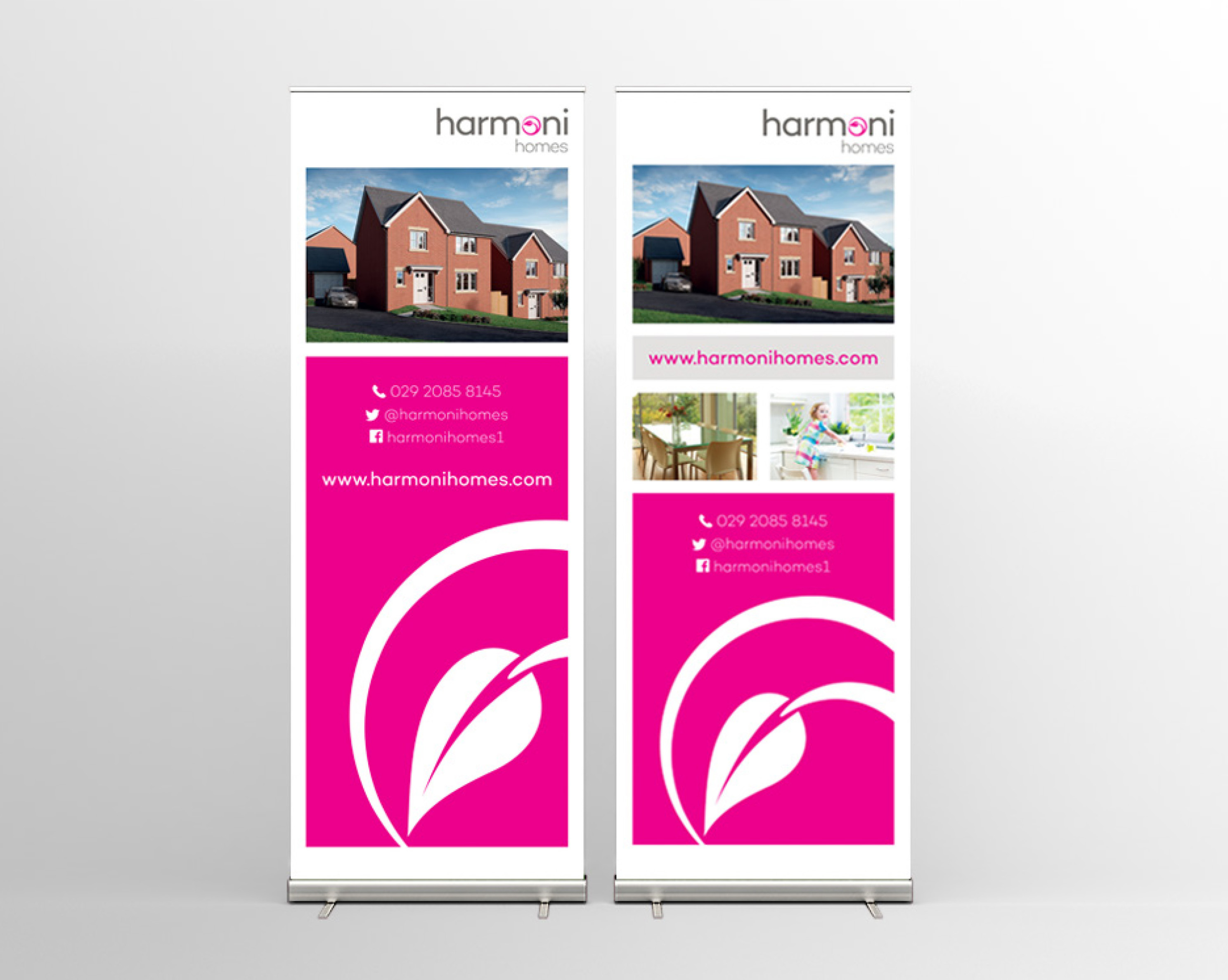 Harmoni Homes Bannerstands