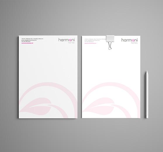 Harmoni Homes Letterheads